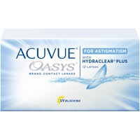 Acuvue Oasys for Astigmatism 12 St. / 8.60 BC / 14.50 DIA / -0.75 DPT / -0.75 CYL / 80° AX