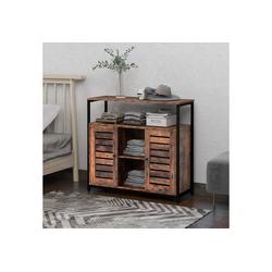 Merax Sideboard, mit zwei Türen, Küchenschrank Vintage 90 cm x 80 cm x 30 cm