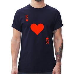 Shirtracer T-Shirt King Kartenspiel Karneval Kostüm - Karneval & Fasching - Herren Premium T-Shirt - T-Shirts karneval & fasching - king kartenspiel 3XL
