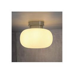 ZMH Deckenleuchte Glas Weiße Deckenlampe Flur E27 1 Flammig 24 cm x 24 cm x 18.5 cm