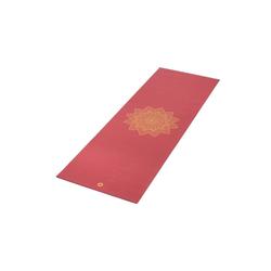 bodhi Yogamatte Yogamatte RISHIKESH Premium 60 mit goldenem Mandala weinrot rot