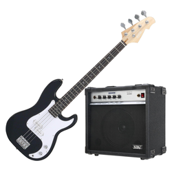 Rocktile Puncher E-Bass Black SET inkl. Soundking Bass-Amp
