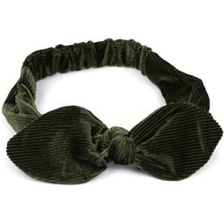 styleBREAKER Haarband Cord Haarband mit Schleife, 1-tlg., Cord Haarband mit Schleife grün
