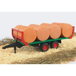 Bruder® Spielfahrzeug-Anhänger Ballentransportanhänger mit 8 Rundballen, 02220, Made in Germany