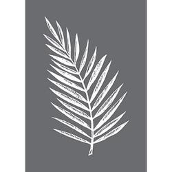 Rayher Siebdruckschablone Palmblatt grau