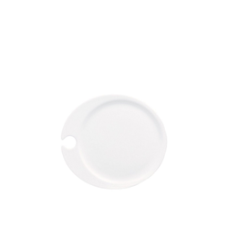 Rosenthal Teller Jade Weiß Partyteller 23 x 21 cm, (1 Stück)