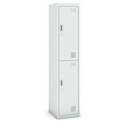 Zweitüriger schrank, 1800 x 380 x 450 mm, grau/grau