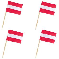 Flaggenpicker Fahnenpicker Deko-Picker Land 'Österreich',  50 Stk.
