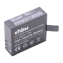 vhbw Li-Ion Akku 900mAh (3.7V) für Camcorder, Videokamera, Sportkamera DBPower EX4000, EX5000 wie SJ4000.