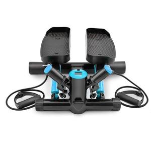 Hop-Sport Swing Side Stepper HS-035S Computer Trainingsbänder verstellbare Tritthöhe Einstellbarer Widerstand (schwarz-blau)