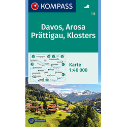 Davos - Arosa - Prättigau - Klosters 1 : 40 000