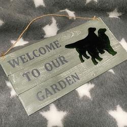 """MATDOX Shabby """"Welcome to our Garden"""" - Schild 1"""