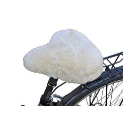 Fahrradsattelbezug Lammfell Touren weiß