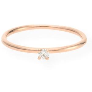 JuwelmaLux Verlobungsring Verlobungsring Gold Damen mit Diamant(en) (1-tlg), Roségold 585/000, inkl. Schmuckschachtel 52