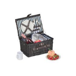 relaxdays Picknickkorb Picknickkorb für 2 Personen