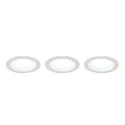 Lutec LED Einbaustrahler LED 3er-Set Fusion Weiß