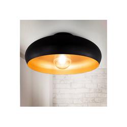 B.K.Licht Deckenleuchte, LED Deckenlampe Retro schwarz-gold Wohnzimmer Flur Schlafzimmer E27