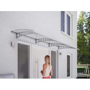 Schulte Pultvordach Style Plus, 240 x 90 cm, 3 mm Polycarbonat Platte Klar, Wandhalterung Edelstahl V2a, Vordach Haustür Überdachung, V1124-20-21
