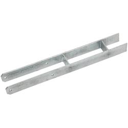 RAMSES H-Pfostenanker , 91x600 mm Stahl feuerverzinkt grau