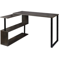 Woltu Schreibtisch, Schreibtisch Arbeitstisch mit Ablagen MDF