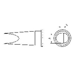 Weller LHT-E Lötspitze Flachform Spitzen-Größe 6.7mm Inhalt 1St.