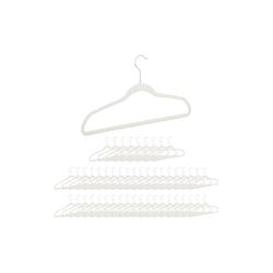 relaxdays Kleiderbügel Kleiderbügel Samt weiß