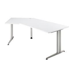 Lüllmann Schreibtisch Freiformtisch Schreibtisch Eckschreibtisch Mumbai 720 x 2100 x 1130/800 mm C-Fuß Design