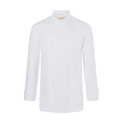 Karlowsky Thomas Kochjacke, weiß, Arbeitsbekleidung für Herren in normaler Passform, Größe: 64