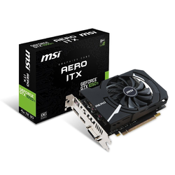 MSI MSI GeForce® GTX 1050 Ti 4GB Aero ITX OCV1 Grafikkarte (4 GB, GDDR5)
