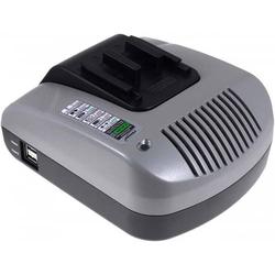 Powery Powery Akku-Ladegerät mit USB für Hitachi Tigersäge CR 24DV, 20V-36V