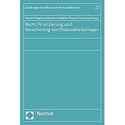 Recht  Finanzierung und Versicherung von Photovoltaikanlagen - Buch