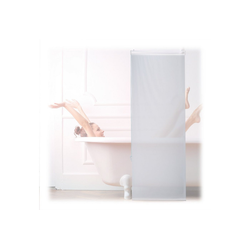 relaxdays Duschrollo Duschrollo weiß Breite 60 cm 60 cm x 240 cm