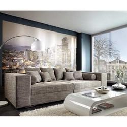 XXL-Sofa Marlen Hellgrau 300x140 cm Bigsofa