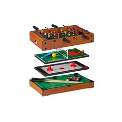 relaxdays Spiel, Multigame Tisch 4 in 1