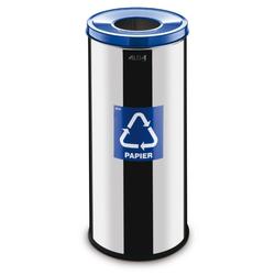 Mülleimer für mülltrennung, 45 l, rostfreier stahl, glänzend, papier