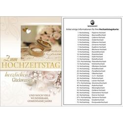 93 100300   Bild Hochzeitstagskarte