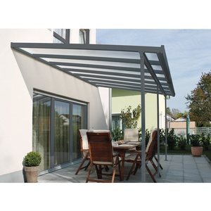 Gutta 4293153 Terrassenüberdachung anthrazit, 306 x 306 cm