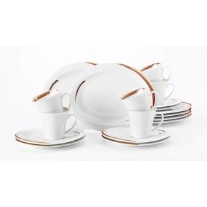 Seltmann Weiden Kaffeeservice 18-teilig weiß   Set für bis zu 6 Personen   Serie Top Life   beinhaltet je 6 Frühstücksteller, Kaffeeober-und Untertassen, Hartporzellan
