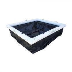 Yachtbeach Luxury Pool 4x4m w. 30cm Tube Pool mit Netz Meer safe