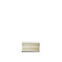 USM Lowboard weiß, Designer Prof. Fritz Haller, 39x78x53 cm