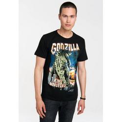 LOGOSHIRT T-Shirt mit Godzilla King Of The Monsters-Aufdruck Godzilla - King Of The Monsters schwarz XL