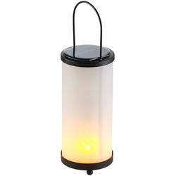 Solar-LED-Laterne, Glas/Metall, realistischer Fackel-Effekt, 96 LEDs