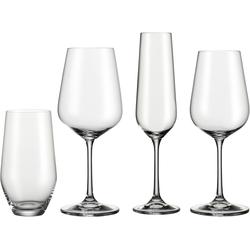 BOHEMIA SELECTION Gläser-Set, (Set, 24 tlg., 6 Rotweinkelche, Weißweinkelche, Sektkelche, Becher), 24-teilig farblos Kristallgläser Gläser Glaswaren Haushaltswaren Gläser-Set