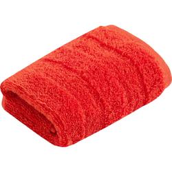 Vossen Waschlappen Fresh (3-tlg), BIO und VEGAN rot