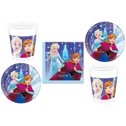 Disney Frozen Einweggeschirr-Set Disney´s Die Eiskönigin - Partyset, 52-teilig