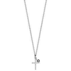 NANA KAY Kette mit Anhänger Kreuz/Herz, Sweet Talisman, ST765, mit Zirkonia