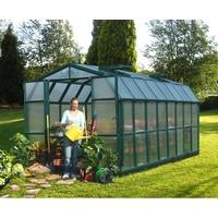 Rion garden and gardening Grand Gardener 48 Alu grün HKP 6 mm / Dach 4 mm 13,13 m² inkl. Fundament