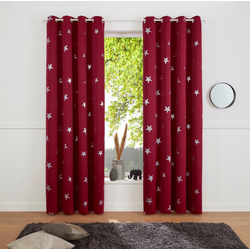 Gardine Blackout Curtain With Foil Print Star, my home, Ösen (1 Stück) lila 135 cm x 175 cm