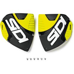 Sidi Crossfire 3 Shin Plates Shin Platen, zwart-geel, Eén maat