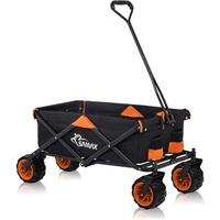 Faltbarer Bollerwagen Offroad - Schwarz / Orange